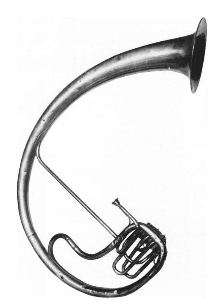 1889 Photo of a saxtuba from the Crosby Brown Collection of Musical Instruments at the Metropolitan Museum of Art, New York