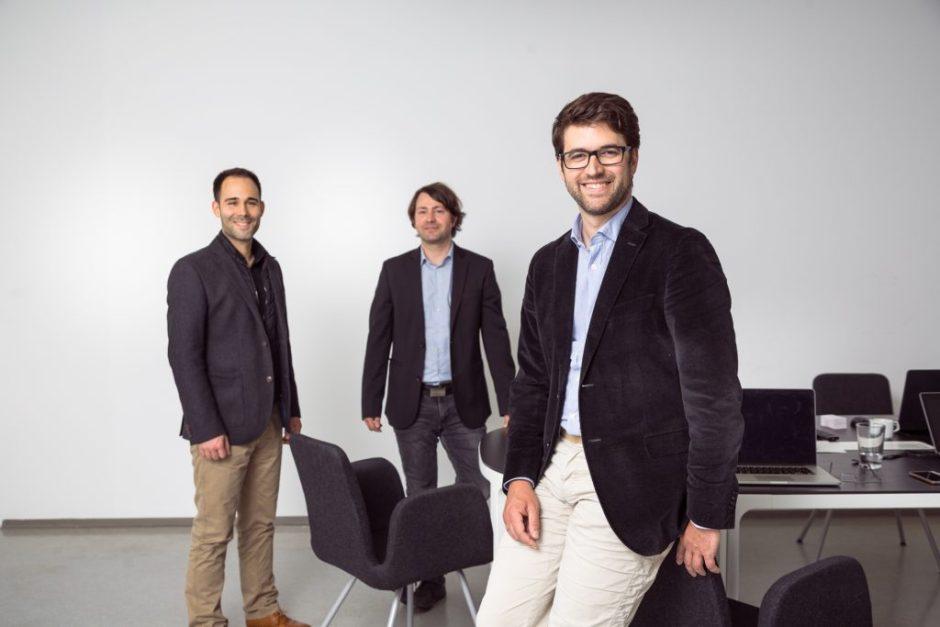 Die swync-Gründer Harald Weinberger, Wolfgang Gumpelmaier-Mach, Benedikt Aichinger