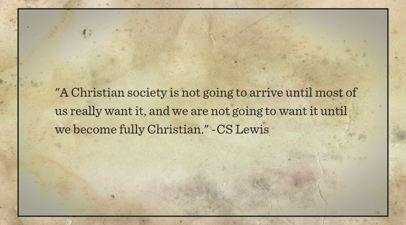 CS Lewis Christian Nation quote