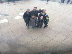 Family Christmas trip Millennium Park