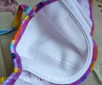 Midnight Grace Jasmine Underwire Twist Bandeau Bikini Top, cup interior