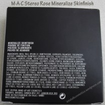 M·A·C Stereo Rose Mineralize Skinfinish (ingredients)