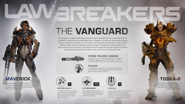 LawBreakers - Vanguard Infographic