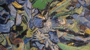 Detail of van Gogh's Irises, Metropolitan Museum, NYC