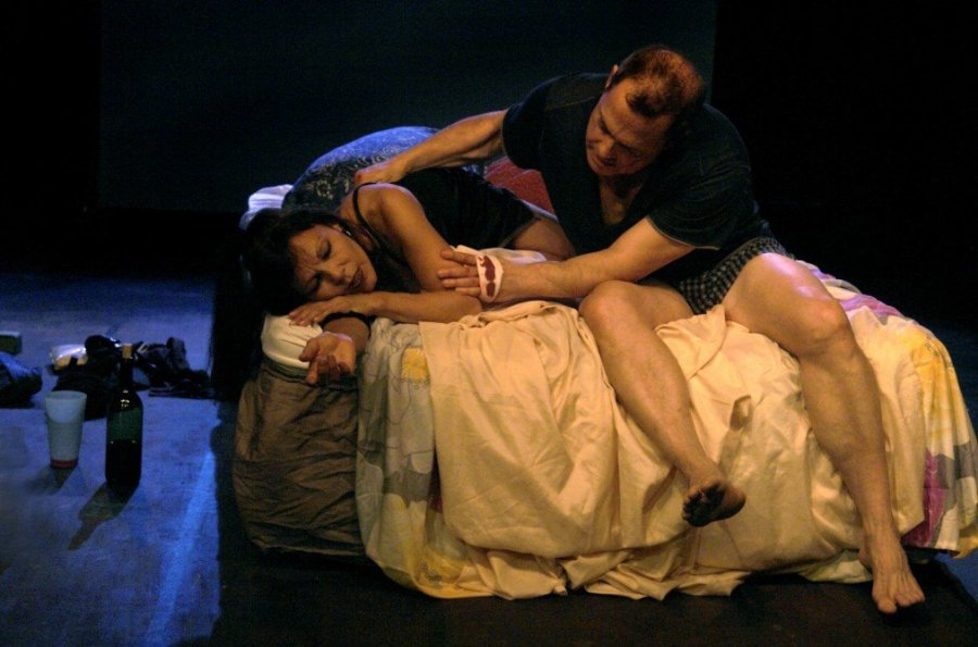 Susan Mitchell and John Talerico in John Patrick Shanley's Danny and the Deep Blue Sea