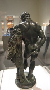 """Weary Herakles (Resting Herakles) from the back. After Lysippos. From the exhibit """"Pergamon and the Hellenistic Kingdoms of the Ancient"""" World, Metropolitan Museum, NYC"""