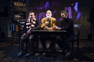 L-R Phil Gillen, Andrew Dason and Aidan Sank representing Edward Gorey at three periods of life in Travis Russ's GOREY.