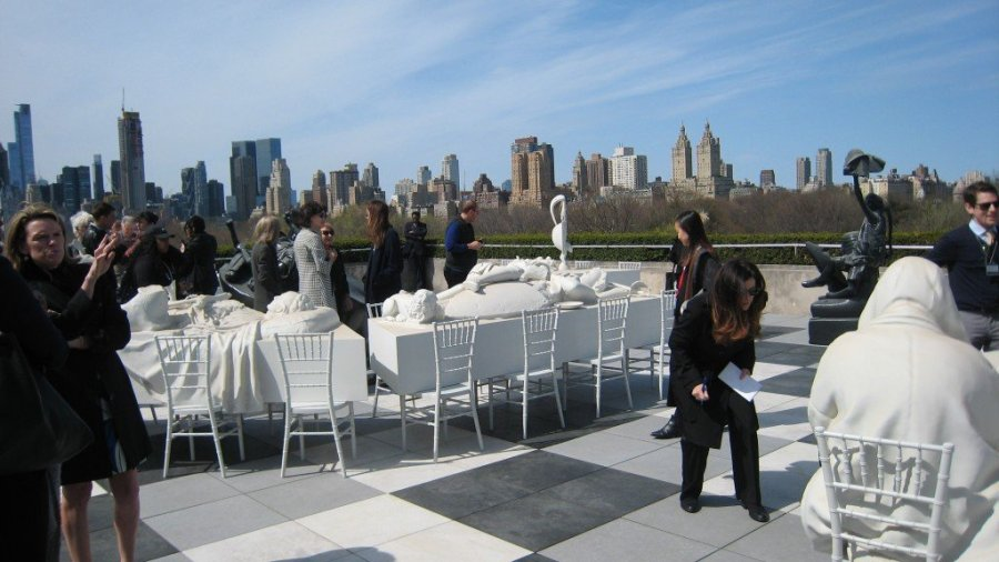 Questioning the Past at Rojas' The Theater of Disappearance. Metropolitan Museum of Art, Roof Garden. All photos Robert Ruben and Yvonne Korshak.
