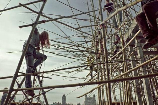 Installing Big Bambu. All photos courtesy of Metropolitan Museum of Art