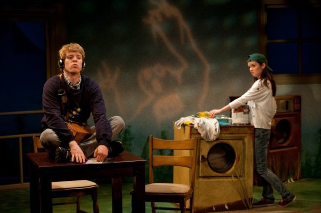 Ben Hollandsworth as Ryan and Reyna De Courcy as Elsie in <em>Dreams of the Washer King</em>.  Photo:  Eric Pearson