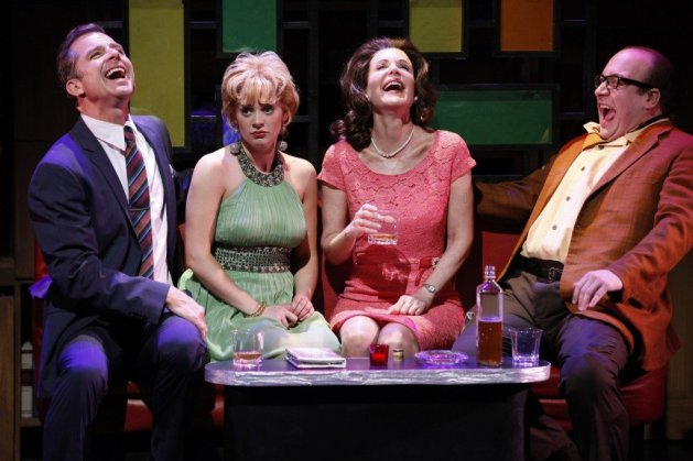 L-R Maxwell Caulfield, Jennie Barber, Lois Robbins, Anthony Reimer in Cactus Flower.  Photo:  Carol Rosegg