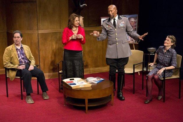 L-R Steve Mellor as Joseph, Kathy Najimy, Reg E. Cathey, Annette O'Toole Photo Hunter Canning