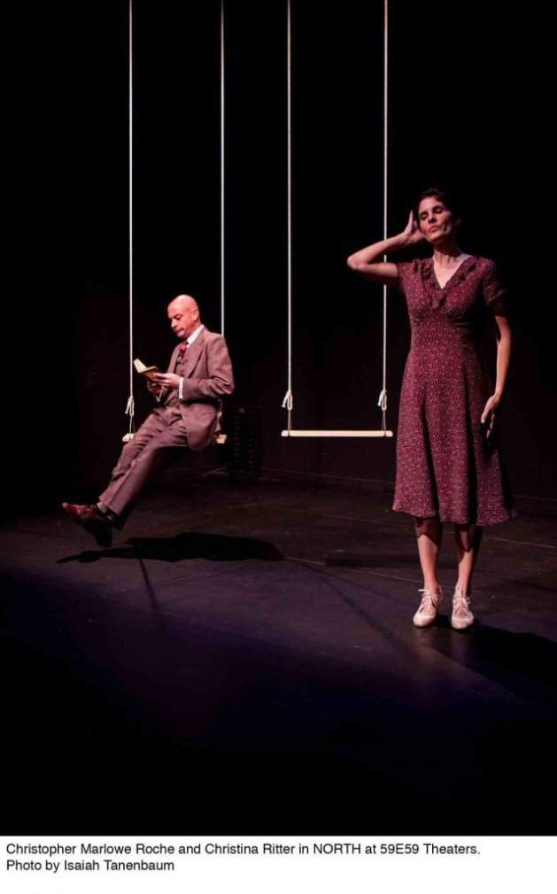 Christopher Marlowe Roach & Christina Ritter in North at 59E59 Theaters