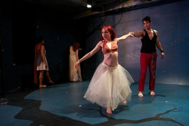Sonia Villani as Eurydice and Marco De Ornella as Orpheus. Photo Alan Roche