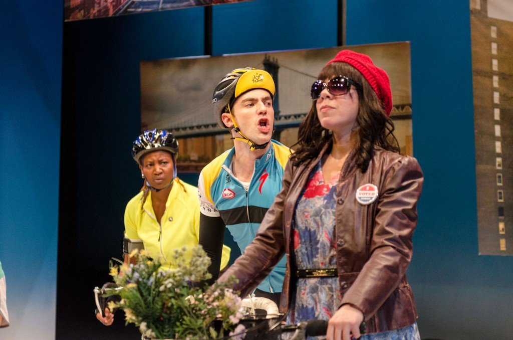 L-R Melanie Nicholls-King (Rorie), Tom White (Ryan), Marilyn Torres (Annabel). Photo Web Begole.