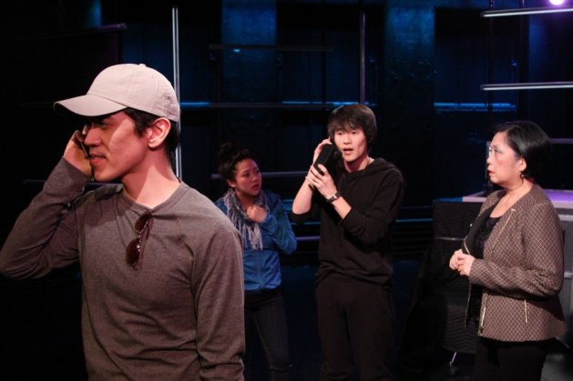 L-R Moses Villarama, Stephanie Hsu, Christopher Larkin, Mia Katigbak. Photo: Ensemble Studio Theatre