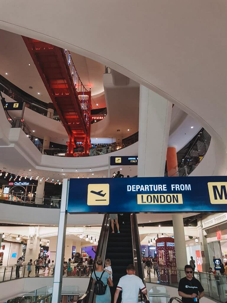 Inside the mall of terminal 21, Thailand.
