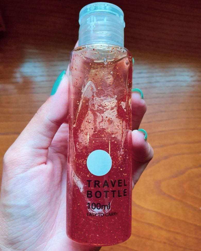 Perfect size travel bottle for a perfect holiday bag