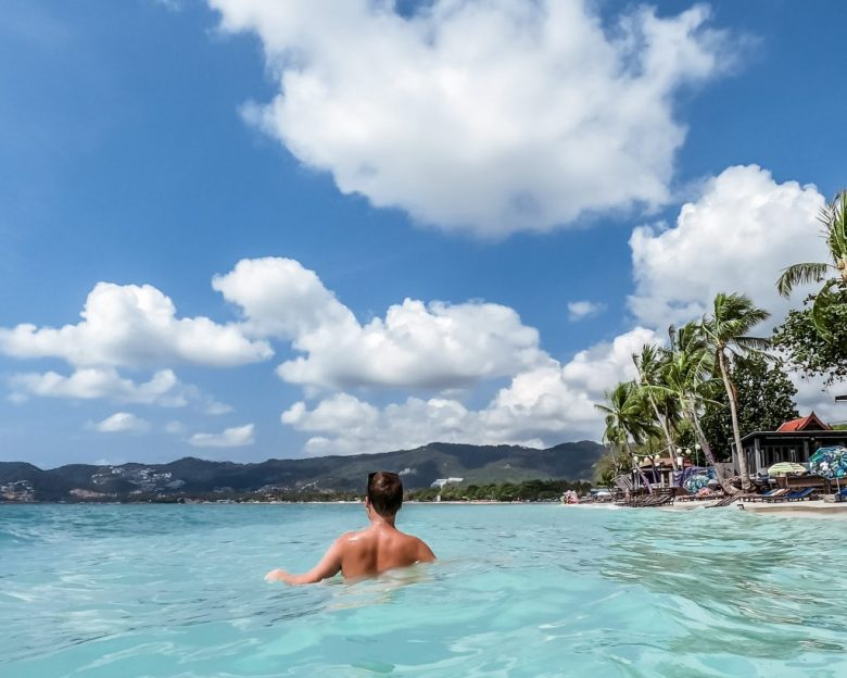 Koh Samui island and  beautiful blue water that is perfect for a day in the sun