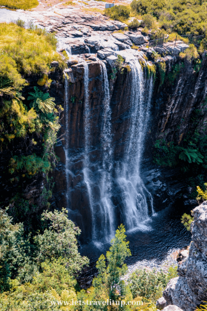The beautiful waterfall at the pinnacle rock in South Africa