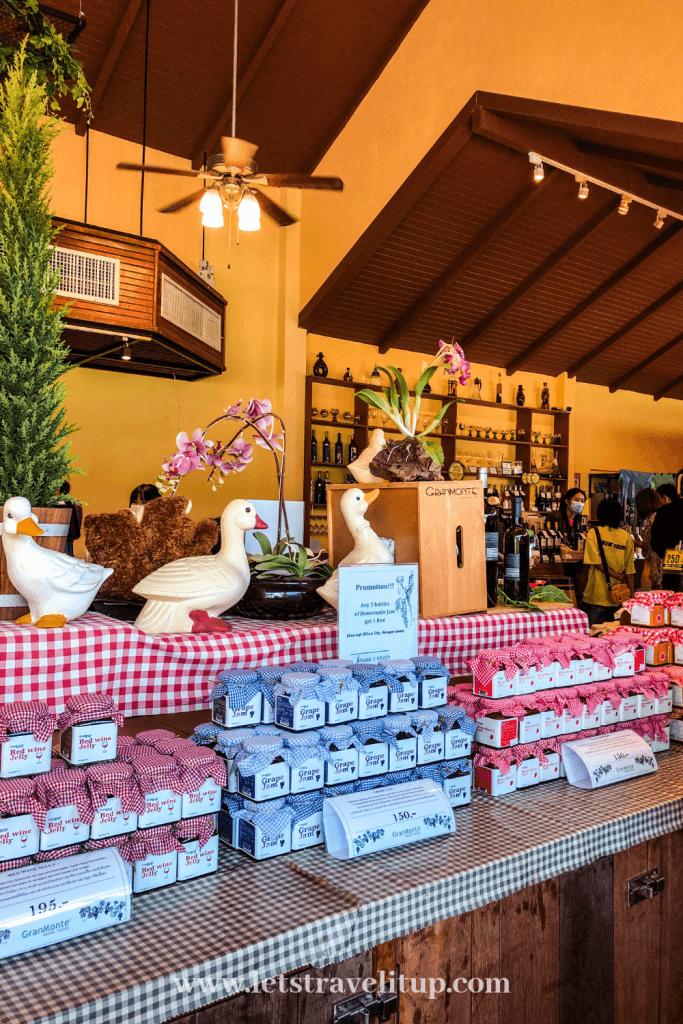 The GranMonte Winery farm shop in Khao Yai