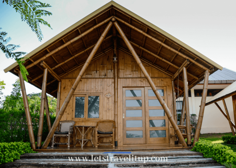 Stay in a bamboo house here at Tayama farm in Khao Yai