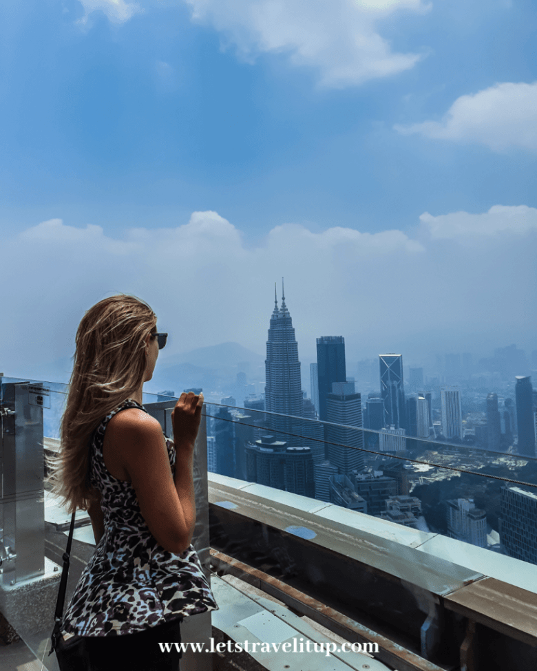 A city view from the Kuala Lumpur Tower.