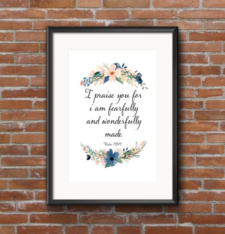 I am fearfully and Wonderfully made framed