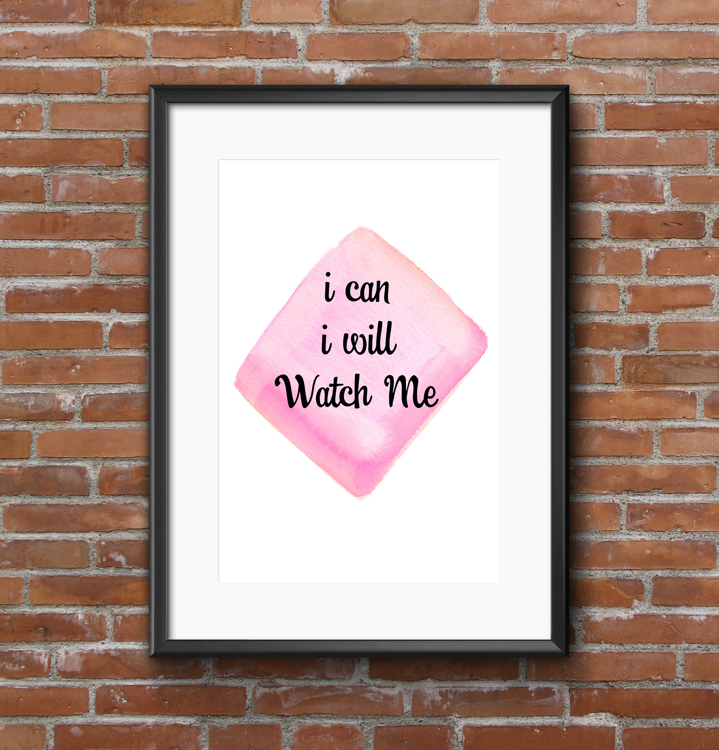 I can i will watch me framed