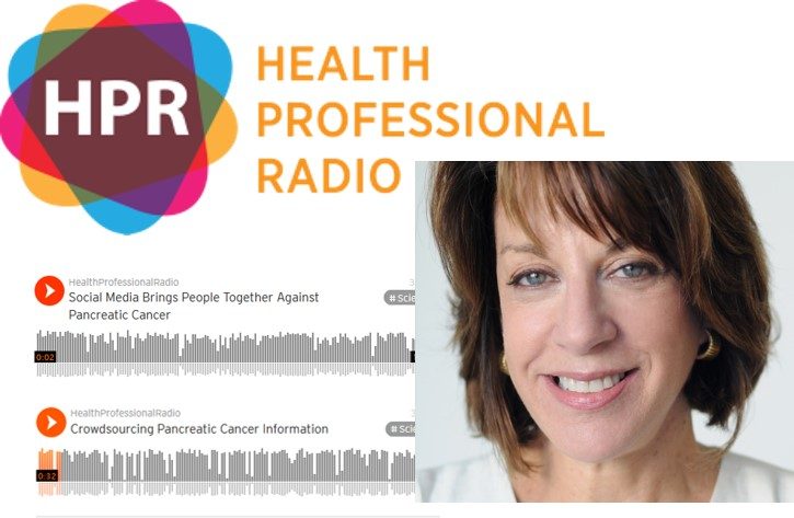 Collage Of Health Professional Radio Logo And Photo Of Let's Win Founder Anne Glauber