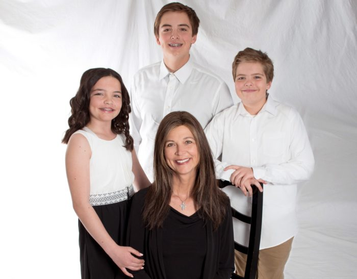 Pancreatic cancer patient Dr. Jill Pechacek and her children