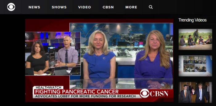 Julie Fleshman of PanCAN and survivor Camille Moses on CBS News