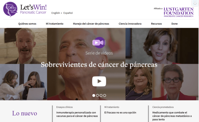 An image of the Let's Win Spanish website home page