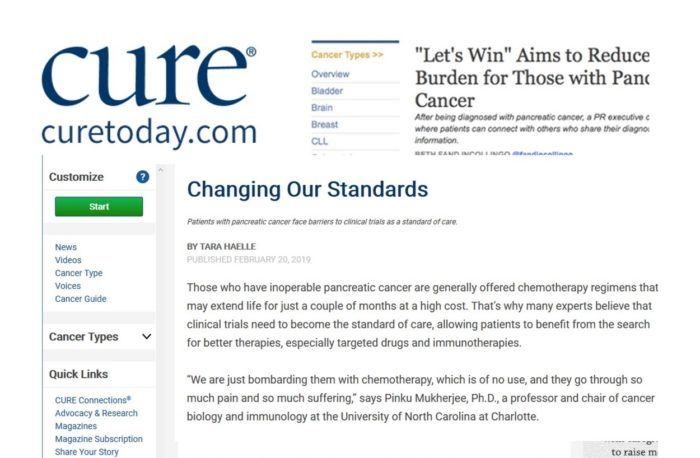 collage of CURE magazine logo and snippets of articles