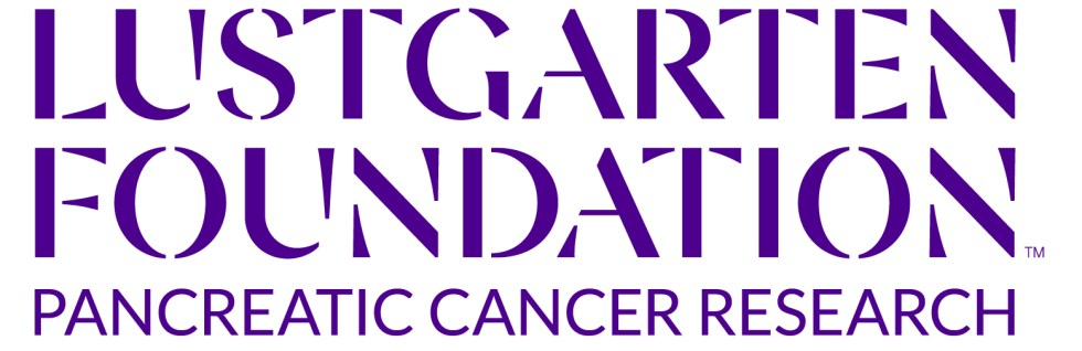 Lustgarten Foundation logo in purple on a white background