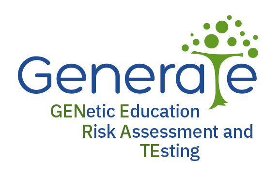 GENERATE logo in blue and green