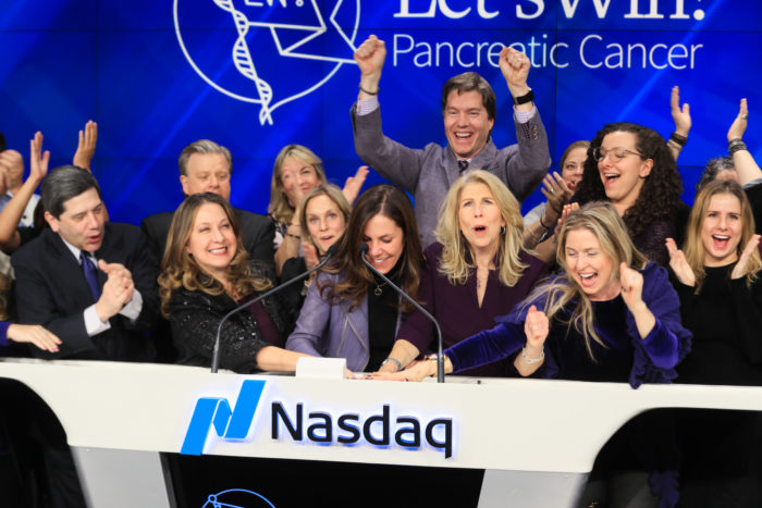 Let's Win Rings the Nasdaq Closing Bell for Pancreatic Cancer Awareness