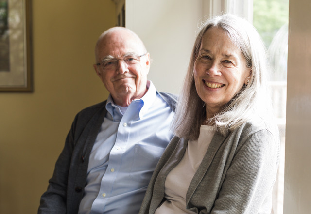 pancreatic cancer survivor Miggie Olsson and her husband Tom