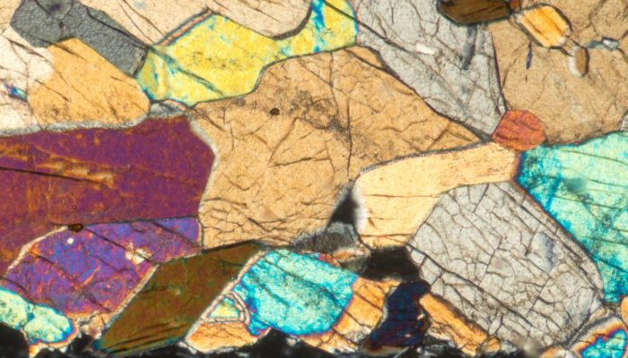 microscope image of crystals