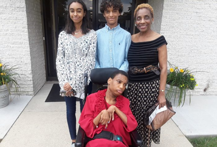pancreatic cancer survivor Angella Dixon-Watson and her family