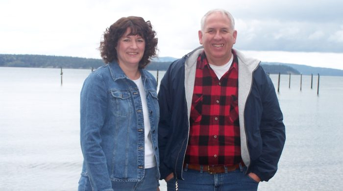 Long-term pancreatic cancer survivor William Ramshaw and his wife