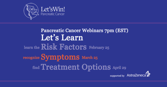 Symptoms Webinar announcement in blue and white and orange