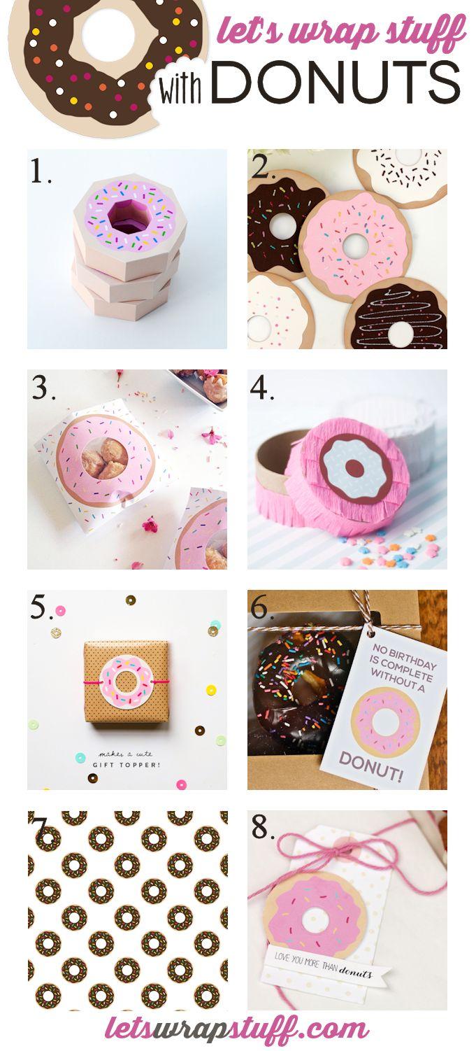 8 Donut Gift Wrap Ideas Let S Wrap Stuff
