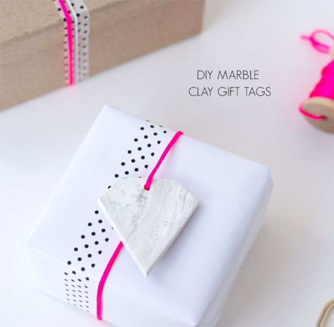 Faux Marble Clay Git Tags