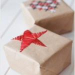 DIY Embroidered Wrapping Paper