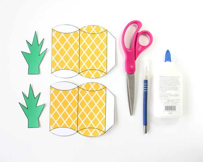 free printable pineapple gift box