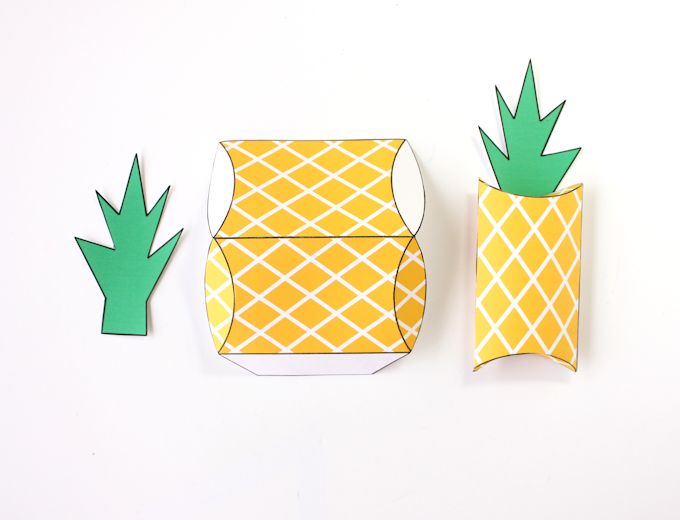 free printable pineapple gift boxes