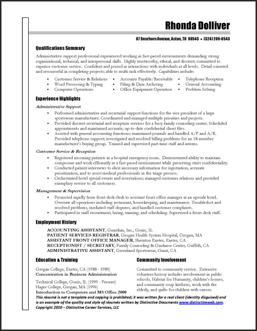 Examples Of Outstanding Resumes. Examples Of Outstanding Resumes