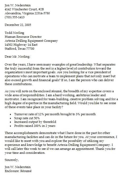 cover letter examples 1 letter