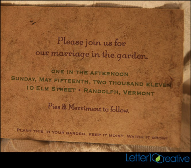 Inexpensive Seeded Wedding Invitations